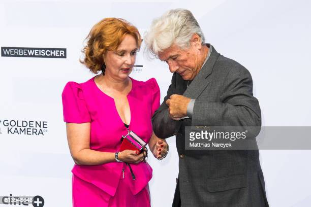 Juergen Prochnow and his wife Verena Wengler attend the Summer Party of the German Producers Alliance on July 12 2017 in Berlin Germany