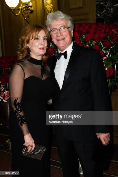 Juergen Prochnow and his wife Verena Wengler during the Semper Opera Ball 2018 at Semperoper on January 26 2018 in Dresden Germany