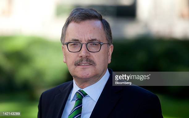 Juergen Stark, former chief economist of the European Central Bank , poses for a photograph during the Ambrosetti Workshop in Cernobbio, near Como,...