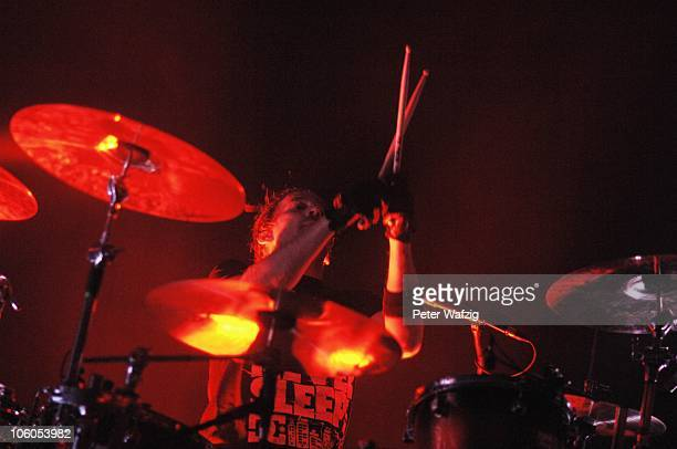 Juergen Stiehle of Die Happy performs on stage at the Live Music Hall on October 20 2010 in Cologne Germany