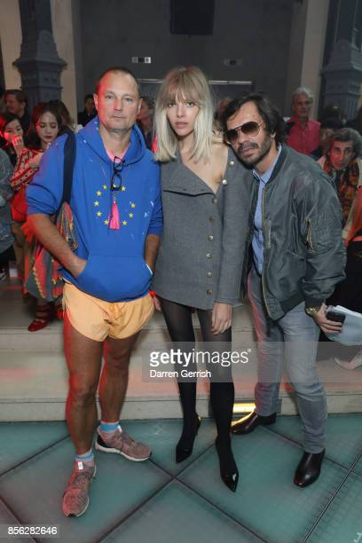 Juergen Teller Amanda Wall and Olivier Zahm attend the Vivienne Westwood show as part of the Paris Fashion Week Womenswear Spring/Summer 2018 on...
