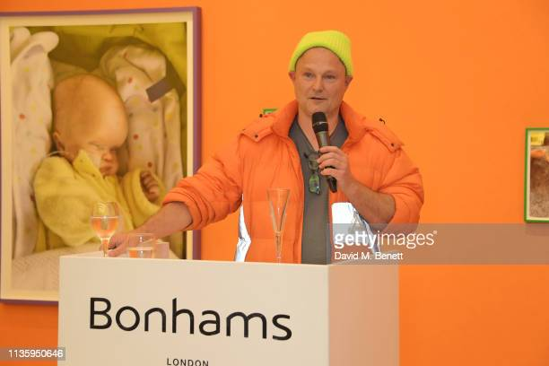 Juergen Teller attends a private view of Juergen Teller's new exhibition Demelza Kids at Bonhams on April 9 2019 in London England