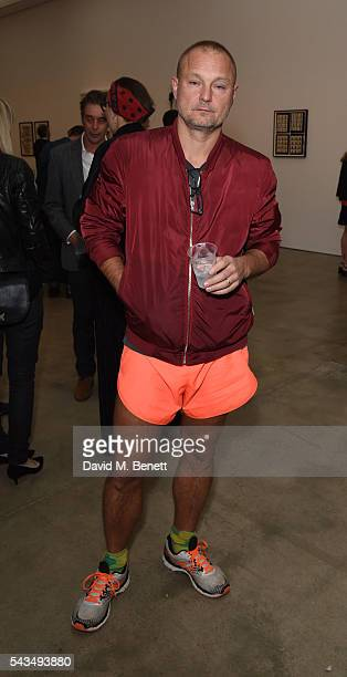 Juergen Teller attends a VIP private view of Judy Blame Never Again and Artistic Difference at the ICA on June 28 2016 in London England