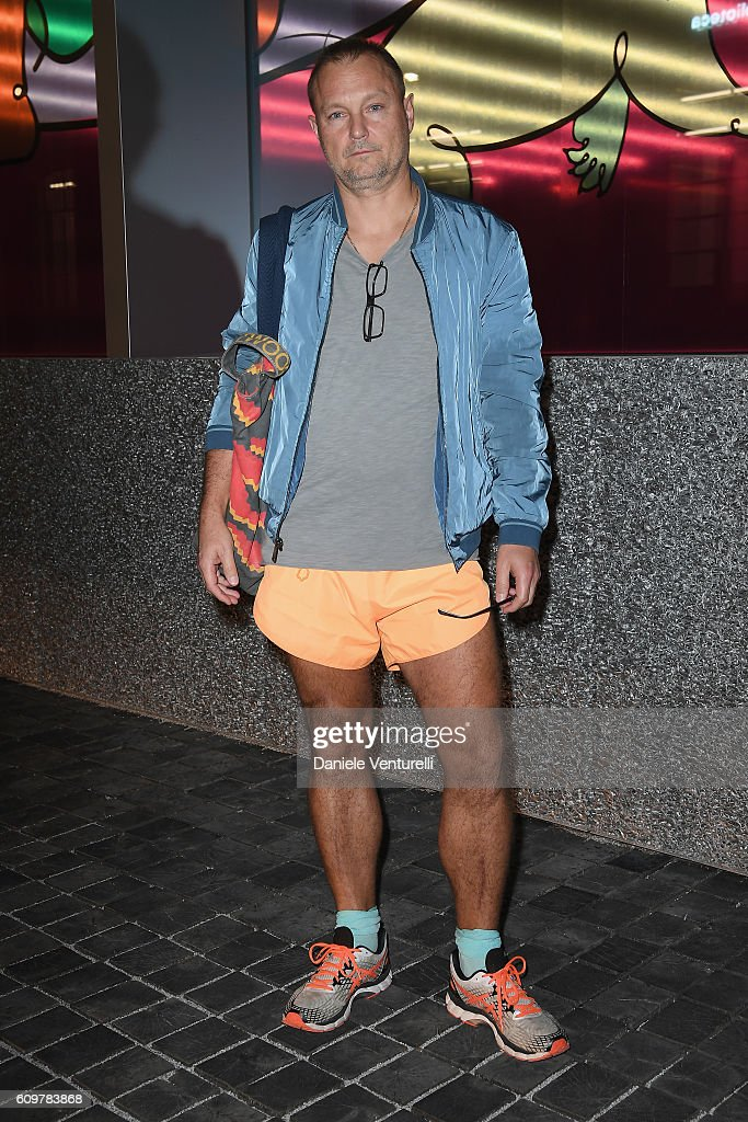 Juergen Teller attends Miuccia Prada and Patrizio Bertelli private screening of a short movie by David O. Russell and dinner party at Fondazione Prada during Milan Fashion Week Spring/Summer 2017 on September 22, 2016 in Milan, Italy.