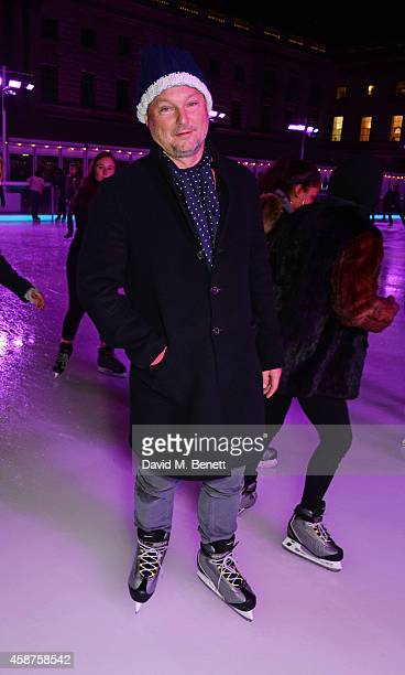 Juergen Teller attends the opening party of Skate at Somerset House with Fortnum Mason at Somerset House on November 10 2014 in London England The...