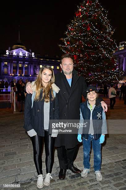Juergen Teller Ed Teller and Lola Teller attends Skate at Somerset House VIP Launch at Somerset House on November 15 2012 in London England
