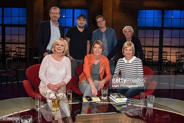 Juergen Todenhoefer Westbam Dieter Nuhr Mathieu Carriere Marijke Amado Bettina Boettinger and Ilka Essmueller attend the 'Koelner Treff' TV Show at...