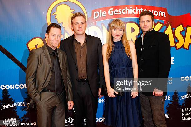Juergen Tonkel Sebastian Bezzel LisaMaria Potthoff and Peter Ketnath attend the German premiere of 'Brandner Kaspar' on October 11 2008 in Munich...