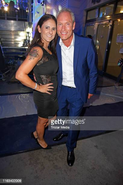 Juergen Trovato and his wife Marta Trovato attend the Promi Big Brother final at MMC Studios on August 23 2019 in Cologne Germany