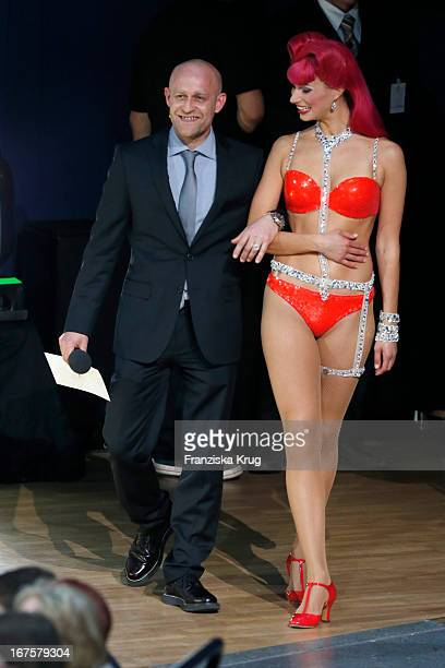 Juergen Vogel and performer attend the Lola German Film Award 2013 at Friedrichstadt-Palast on April 26, 2013 in Berlin, Germany.