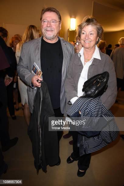 Juergen von der Lippe and his wife Anne Dohrenkamp attend the 'Willkommen bei den Hartmanns' theater premiere on September 23, 2018 in Berlin,...