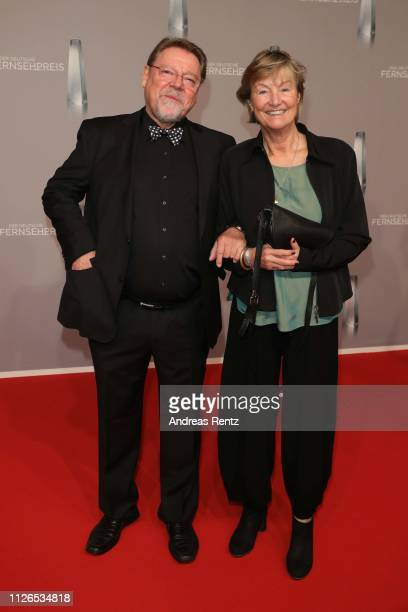 Juergen von der Lippe and his wife Anne Dohrenkamp attend the German Television Award at Rheinterrasse on January 31 2019 in Duesseldorf Germany