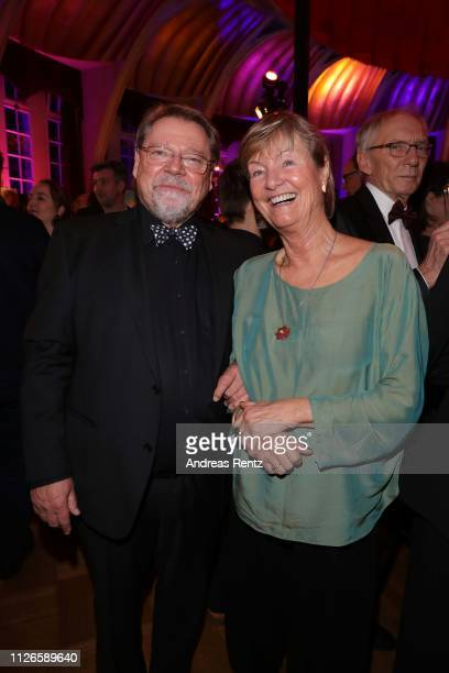 Juergen von der Lippe and his wife Anne Dohrenkamp attend the German Television Award after show reception at Rheinterrasse on January 31 2019 in...