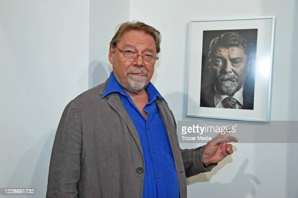 """Juergen von der Lippe during the """"AENO Malerei und Fotografie - Anne Dohrenkamp and André Kowalski"""" exhibition opening at Hotel Mond Fine Arts on..."""