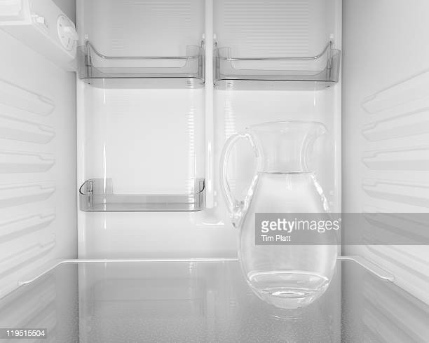 Jug of water inside a fridge.