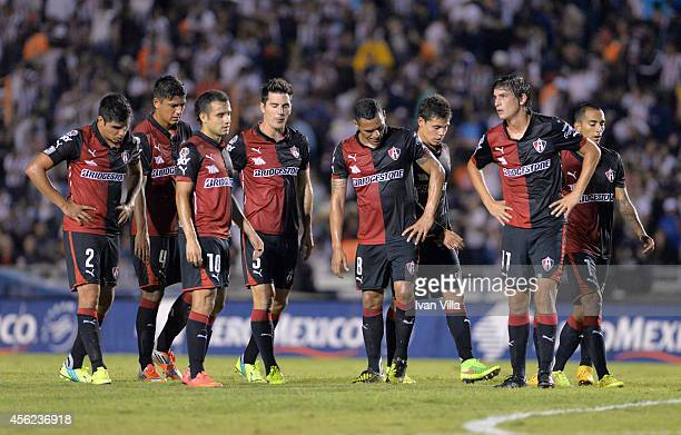 Jugadores de Atlas during a match between Monterrey and Atlas as part of 10th round Apertura 2014 Liga MX at Tecnologico Stadium on September 27 2014...