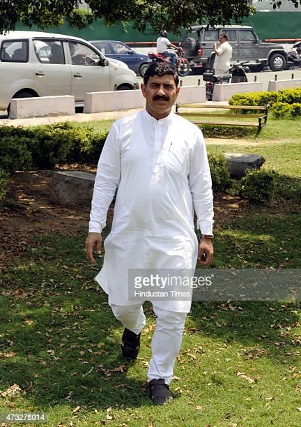Jugal Kishore Sharma after a Mahasampark Abhiyan function on May 14 2015 in Jammu India