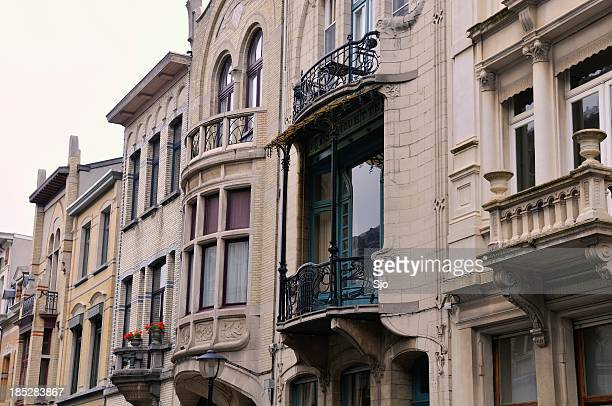 jugendstil architecture antwerp - antwerp city belgium stock pictures, royalty-free photos & images