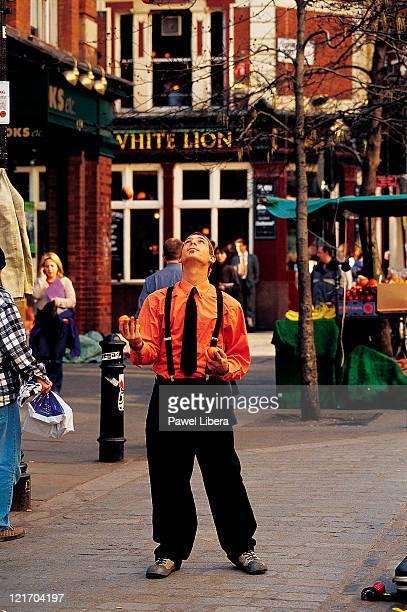 Juggler at Covent Garden