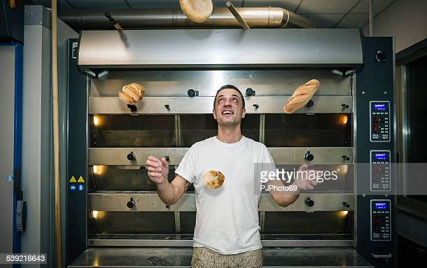 Juggler with breads