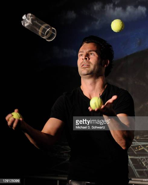 Juggler/comedian Ivan Pecel performs during his appearance at The Ice House Comedy Club on May 19 2011 in Pasadena California