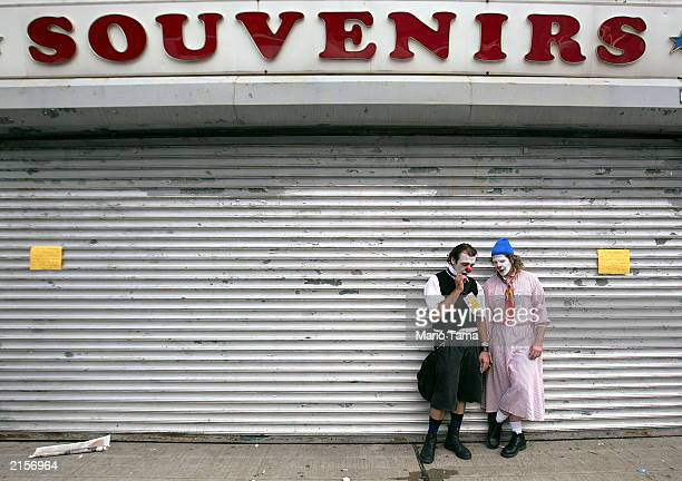 Jugglers perform during Circus Days at Coney Island July 12 2003 in the Brooklyn borough of New York City The outdoor circus featured an armwrestling...