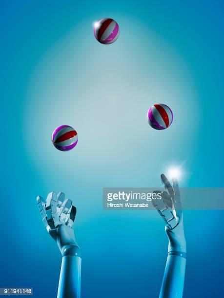juggling a.i. - jongleren stockfoto's en -beelden