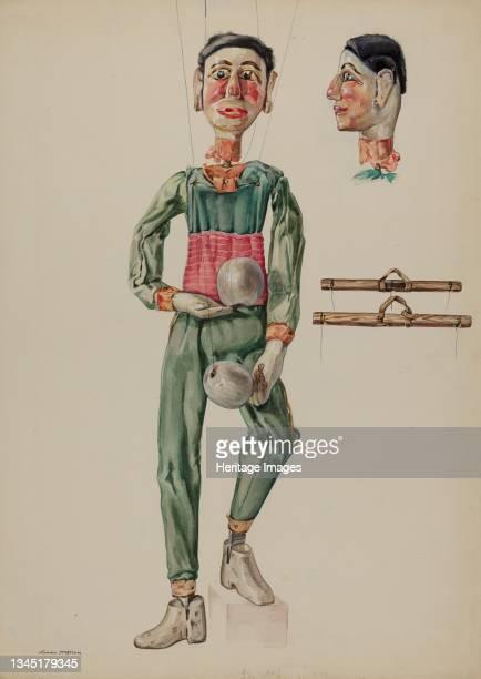 Juggling Marionette, circa 1936. Artist James McLellan.