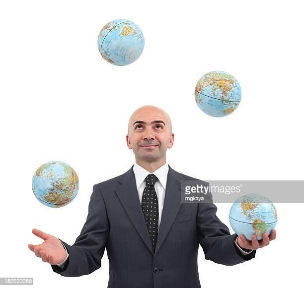Malabarismo mundo globos