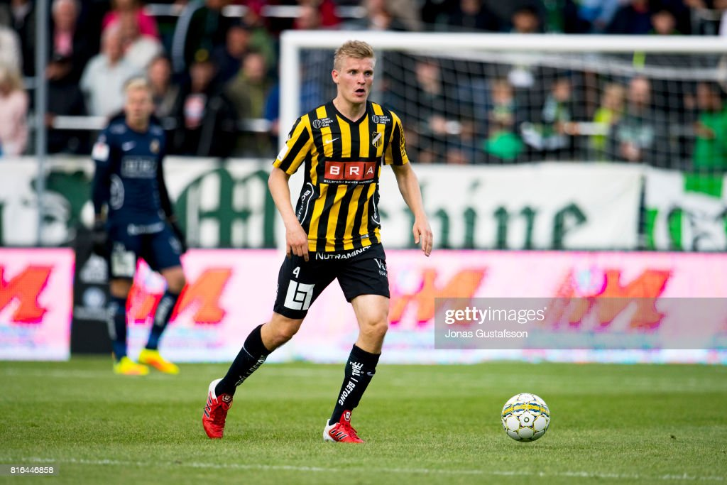 Juhani Ojala of BK Hacken during the allsvenskan match between Jonkopings Sodra and BK Hacken at Stadsparksvallen on July 17, 2017 in Jonkoping, Sweden.