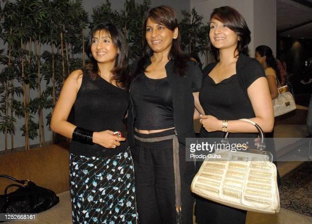 "Juhi Parmar, Archana Puran Singh and Urvashi Dholakia attend the launch of the TV show ""Kante Ki Takkar"" on September 1, 2008 in Mumbai, India."