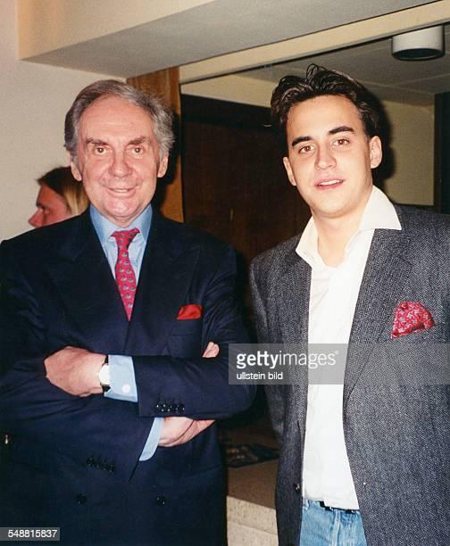Juhnke Harald * Schauspieler Entertainer D mit Sohn Oliver 1996