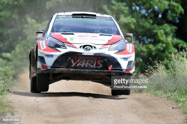 Juho Hanninen FIN Kaj Lindstrom FIN Toyota Gazoo Racing WRT during the WRC Orlen 74 Rally Poland on July 01 2017 in Mikolajki Poland