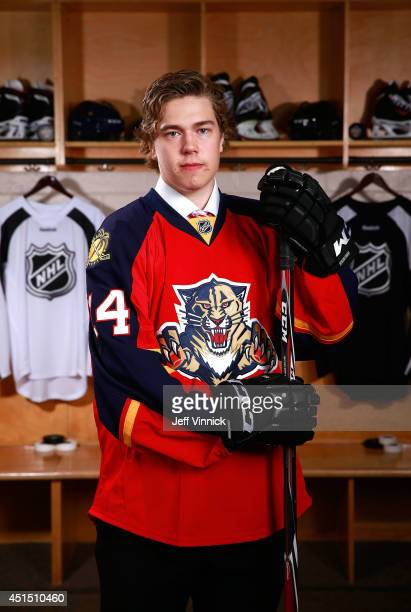 Juho Lammikko, 65th overall pick of the Florida Panthers, poses for a portrait during the 2014 NHL Entry Draft at Wells Fargo Center on June 28, 2014...