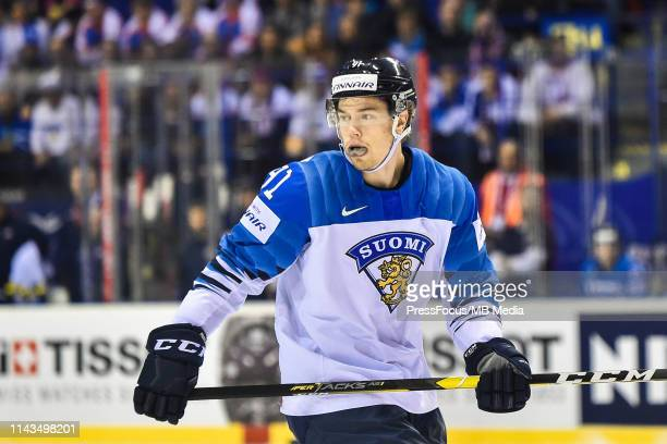 Juho Lammikko of Finland during the 2019 IIHF Ice Hockey World Championship Slovakia group A game between United States and Finland at Steel Arena on...