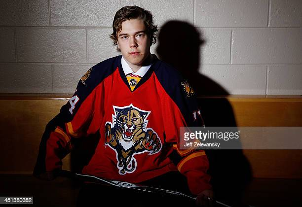 Juho Lammikko of the Florida Panthers poses for a portrait during the 2014 NHL Draft at the Wells Fargo Center on June 28, 2014 in Philadelphia,...