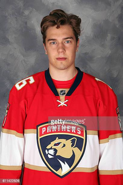 Juho Lammikko of the Florida Panthers poses for his official headshot for the 2016-2017 season on September 22, 2016 at the BB&T Center in Sunrise,...