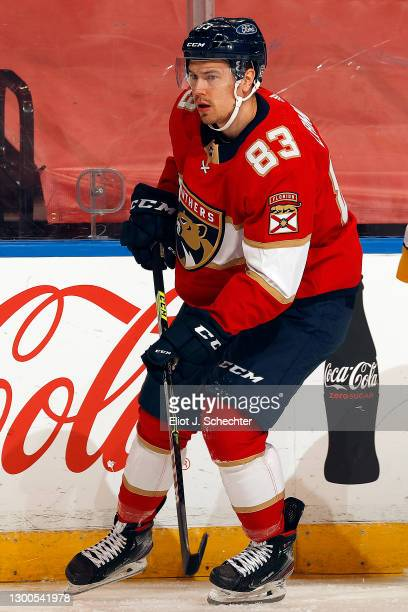 Juho Lammikko of the Florida Panthers skates for position against the Nashville Predators at the BB&T Center on February 4, 2021 in Sunrise, Florida.