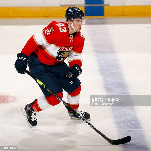 Juho Lammikko of the Florida Panthers skates for position against the Tampa Bay Lightning at the BB&T Center on February 11, 2021 in Sunrise, Florida.