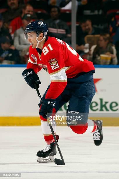 Juho Lammikko of the Panthers skates for position against the Ottawa Senators at the BB&T Center on November 11, 2018 in Sunrise, Florida.