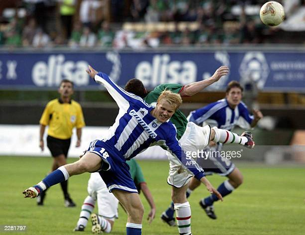 Juho Makela of HJK on his way to score 1-0 against Grentoran during the first round second leg match of the UEFA Champions League qualifications 23...