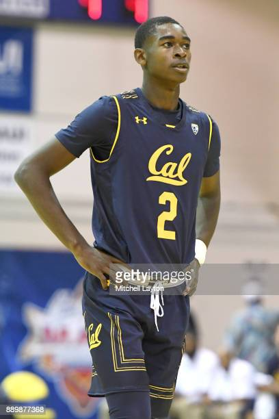 Juhwan HarrisDyson of the California Golden Bears looks on during a consultation college basketball game at the Maui Invitational against the...