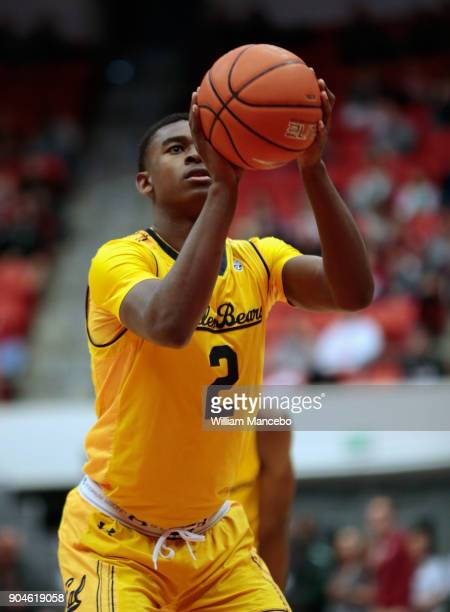Juhwan HarrisDyson of the California Golden Bears takes a free throw in the second half against the Washington State Cougars at Beasley Coliseum on...