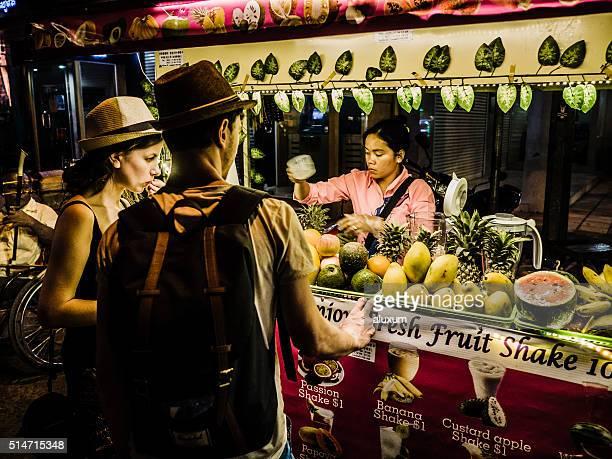 Juice markets stall Siem Reap Cambodia