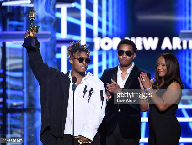 Juice Wrld accepts the Top New Artist award onstage during the 2019 Billboard Music Awards at MGM Grand Garden Arena on May 01 2019 in Las Vegas...
