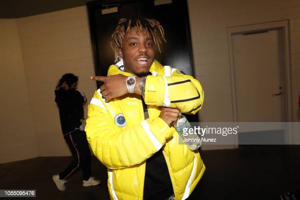 Juice Wrld backstage at 2018 Power1051 Powerhouse NYC at Prudential Center on October 28 2018 in Newark New Jersey