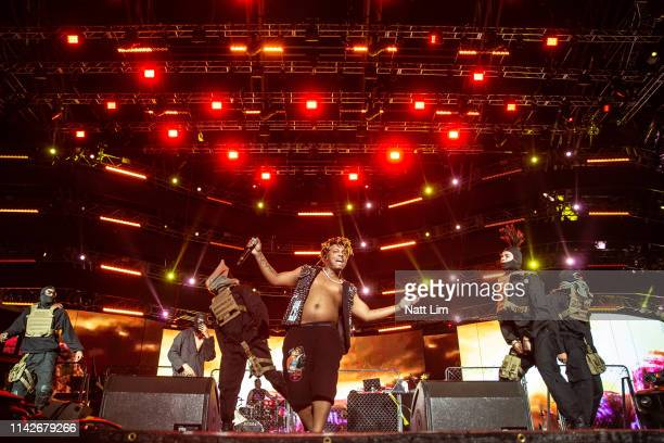 Juice Wrld performs at Sahara Tent during the 2019 Coachella Valley Music And Arts Festival on April 13 2019 in Indio California