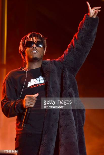 Juice Wrld performs during the 2019 Rolling Loud Music Festival at OaklandAlameda County Coliseum on September 29 2019 in Oakland California