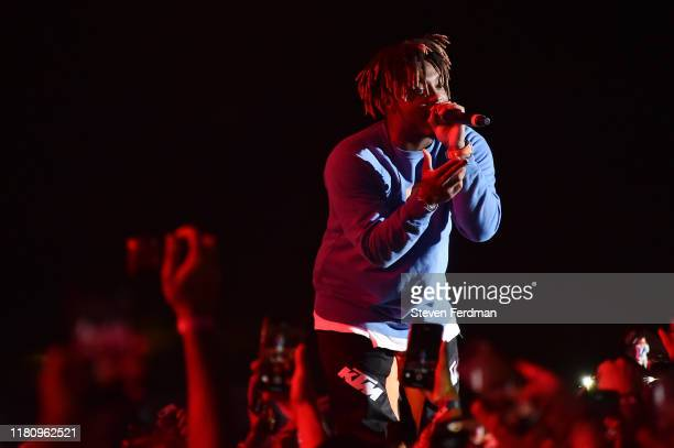 Juice Wrld performs live during Rolling Loud music festival at Citi Field on October 13 2019 in New York City