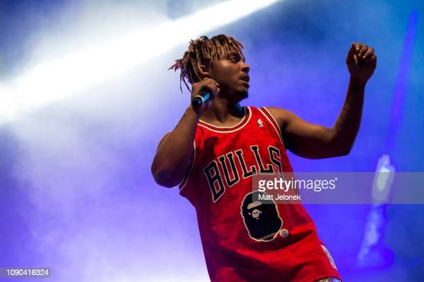 Juice Wrld performs on stage at Falls Festival on January 6 2019 in Fremantle Australia